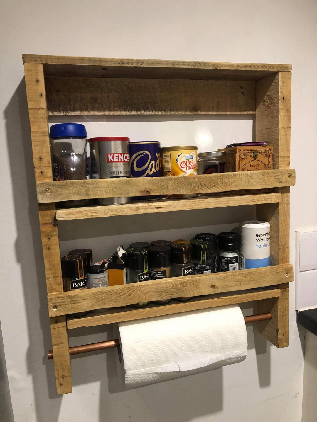 Spice Rack with Kitchen Towel Holder