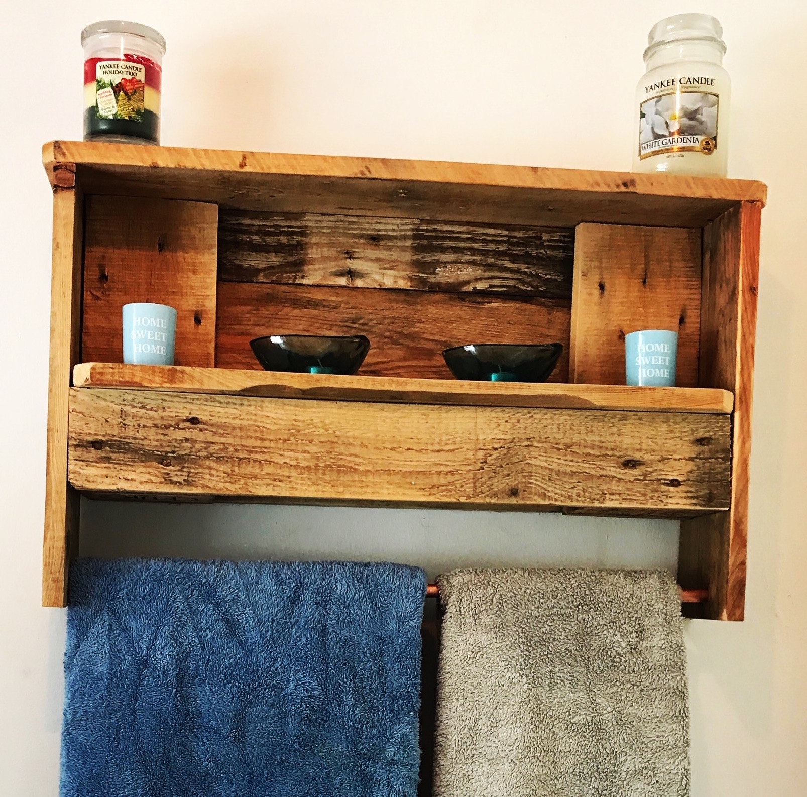 Bathroom Shelf and towel rail